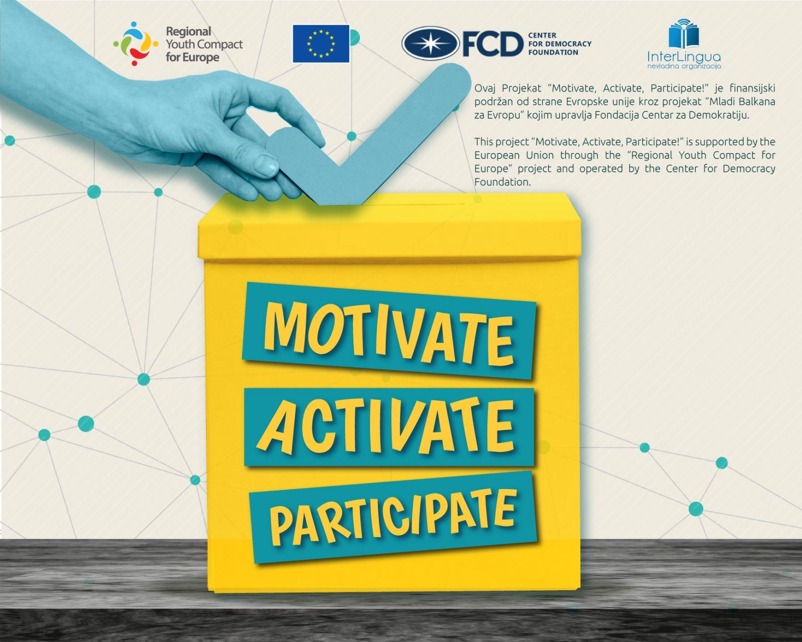 Odabrani pobjednici konkursa u okviru projekta Motivate, Activate, Participate!